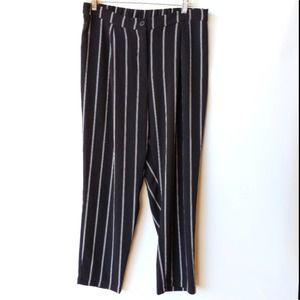 H&M Divided Womens Pants Slacks Striped High Rise